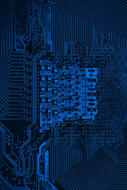 Abstract,close up of Mainboard Electronic computer background.(logic board,cpu motherboard,Main board,system board,mobo) – zdjęcie