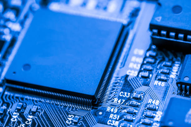 Abstract,close up of Mainboard Electronic computer background. (logic board,cpu motherboard,Main board,system board,mobo) – zdjęcie