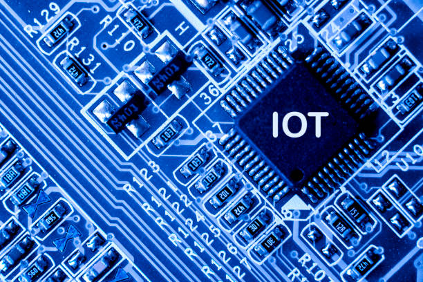 Abstract,close up of Mainboard Electronic computer background. (IOT,Internet of Things) – zdjęcie
