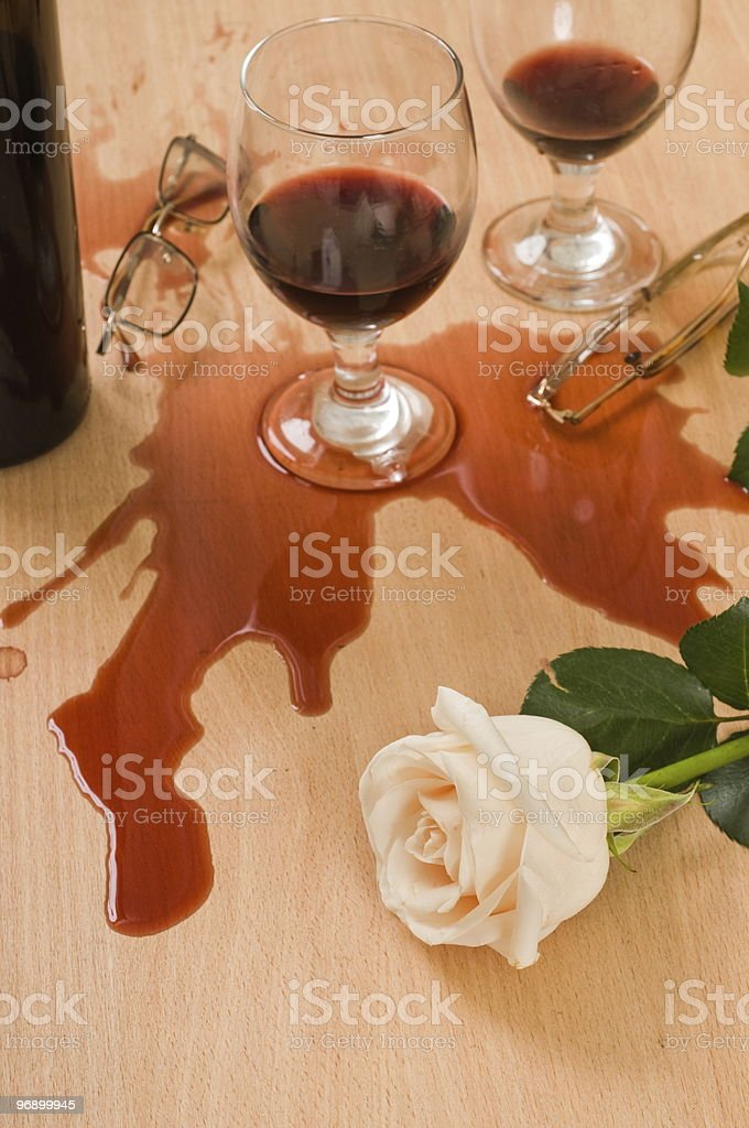Abstraction - loving couple. royalty-free stock photo