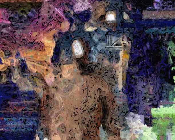 abstraktion - achtsamkeit persönlichkeitseigenschaft stock-fotos und bilder