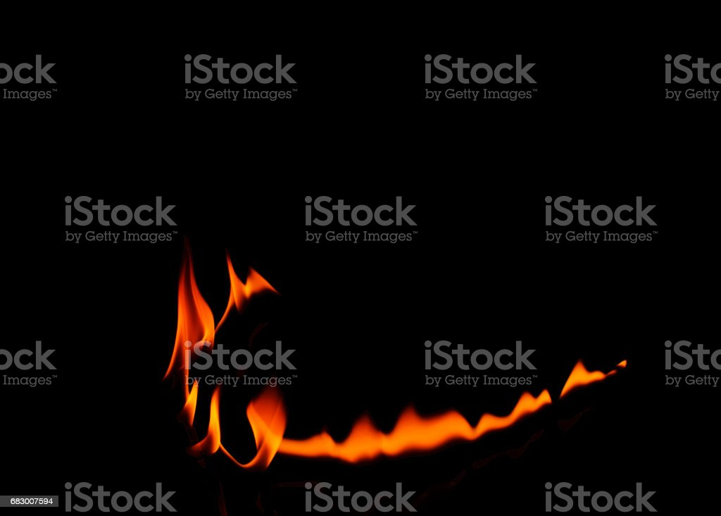 Abstracts fire curve line Isolated on black backgrounds royalty-free stock photo