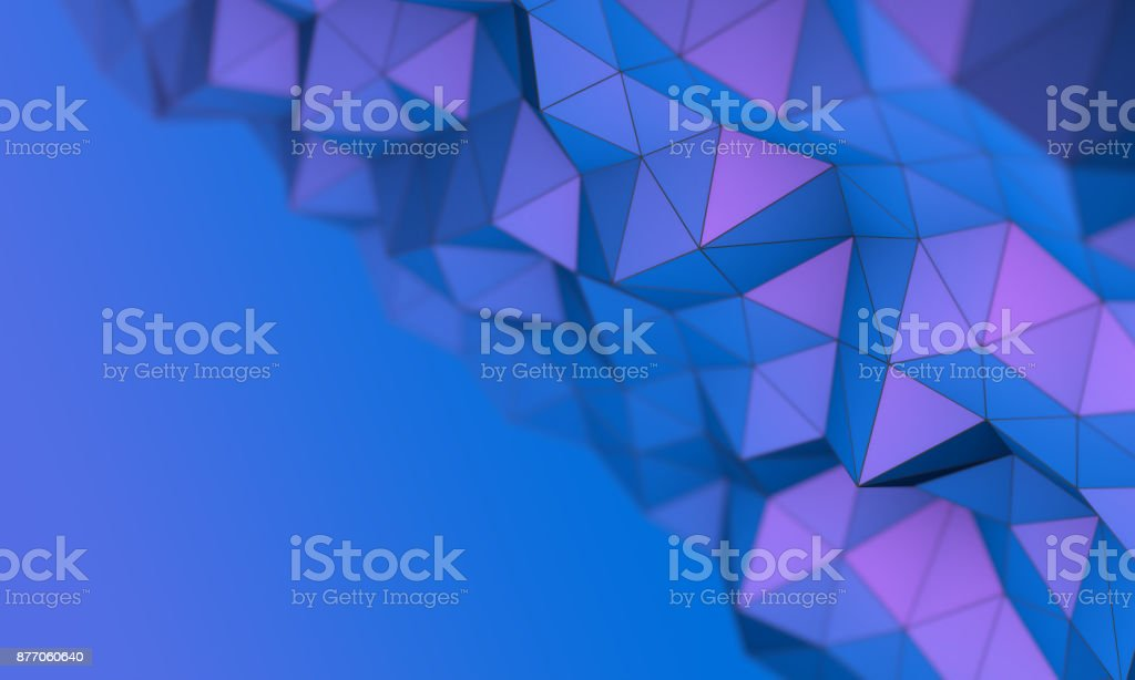 abtract blue and violet triangle background stock photo