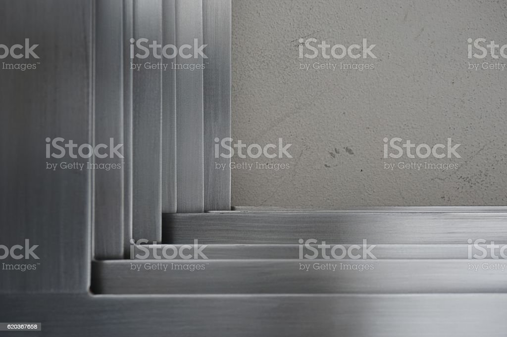 abtract metal corner zbiór zdjęć royalty-free