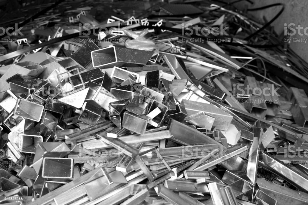 abtract of metal scrap stock photo