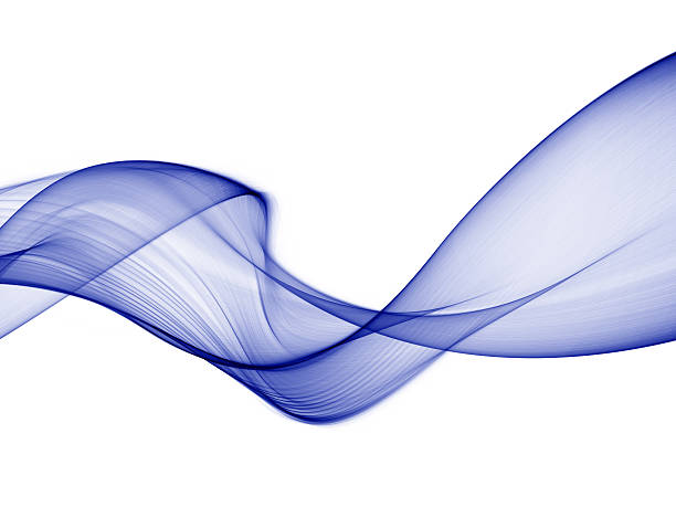 abtract smoke shape in blue stock photo