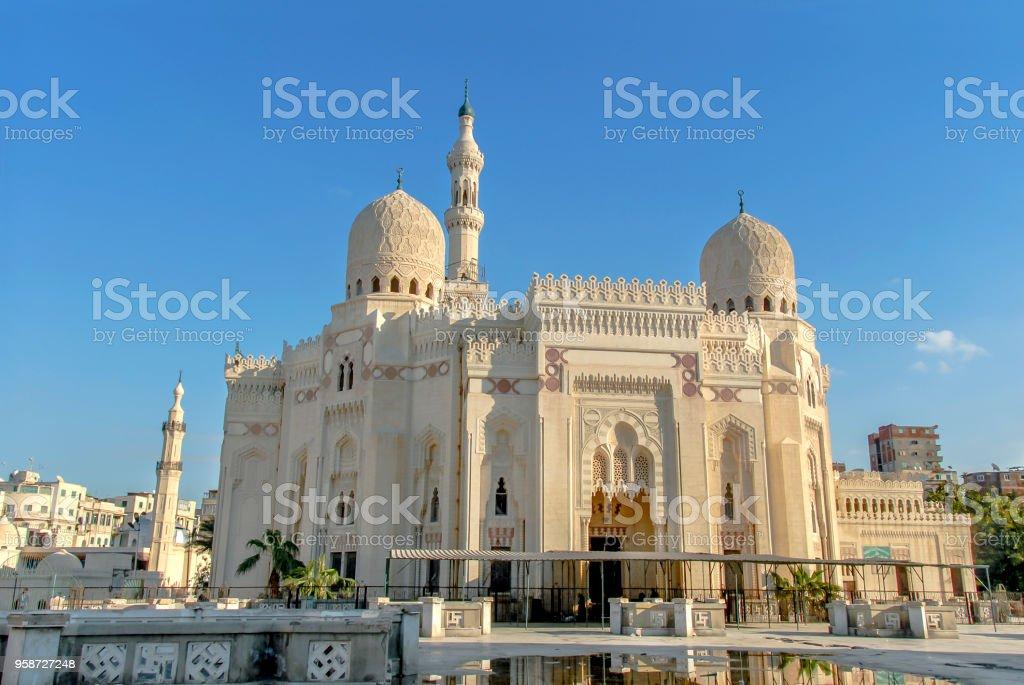 Abu al-Abbas al-Mursi Mosque stock photo