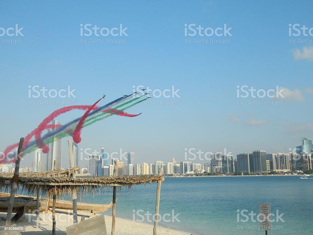 Abu Dhabi Aircraft Show stock photo