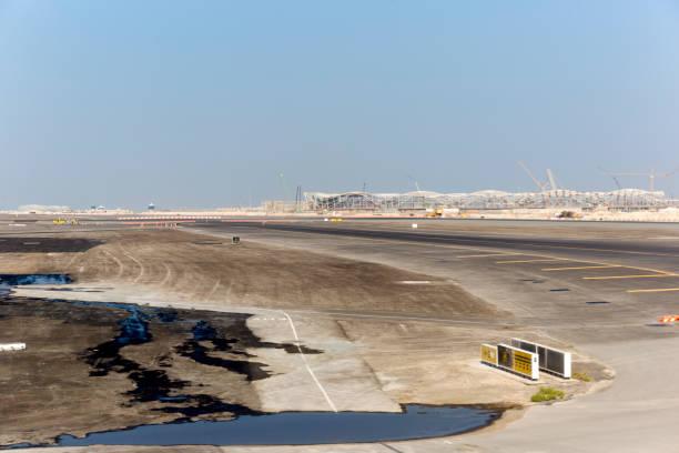 Abu Dhabi Airport Construction stock photo