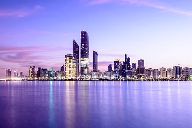 Abu Dhabi City Skyline United Arab Emirates stock photo