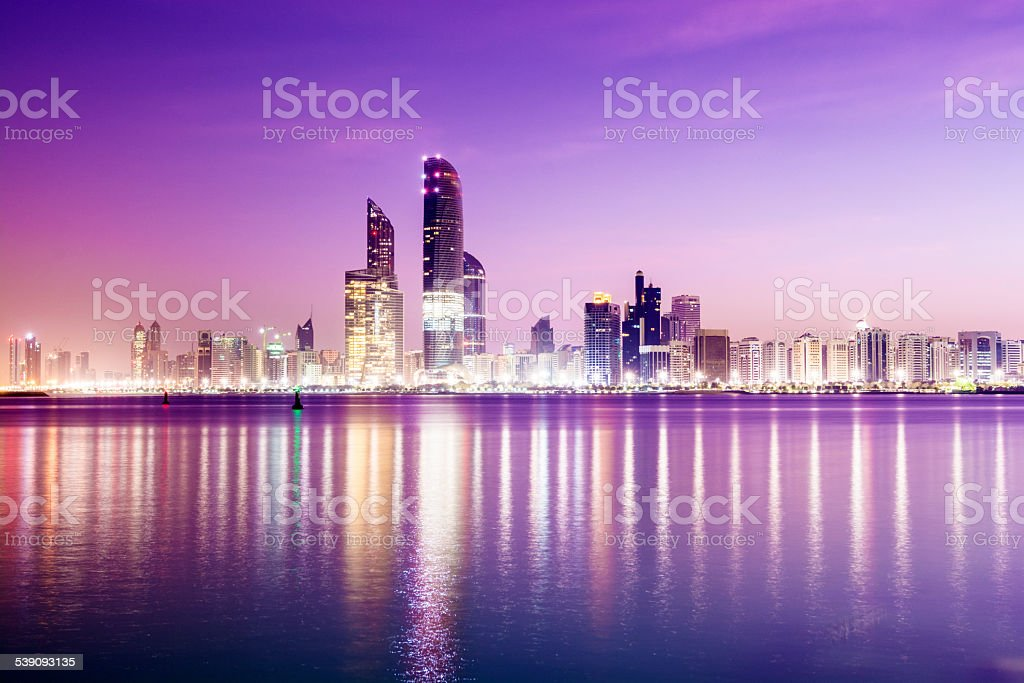 Abu Dhabi City Skyline United Arab Emirates​​​ foto