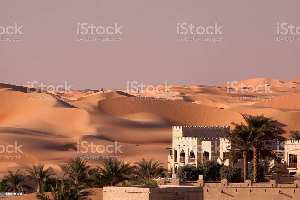 Abu Dhabi desert stock photo