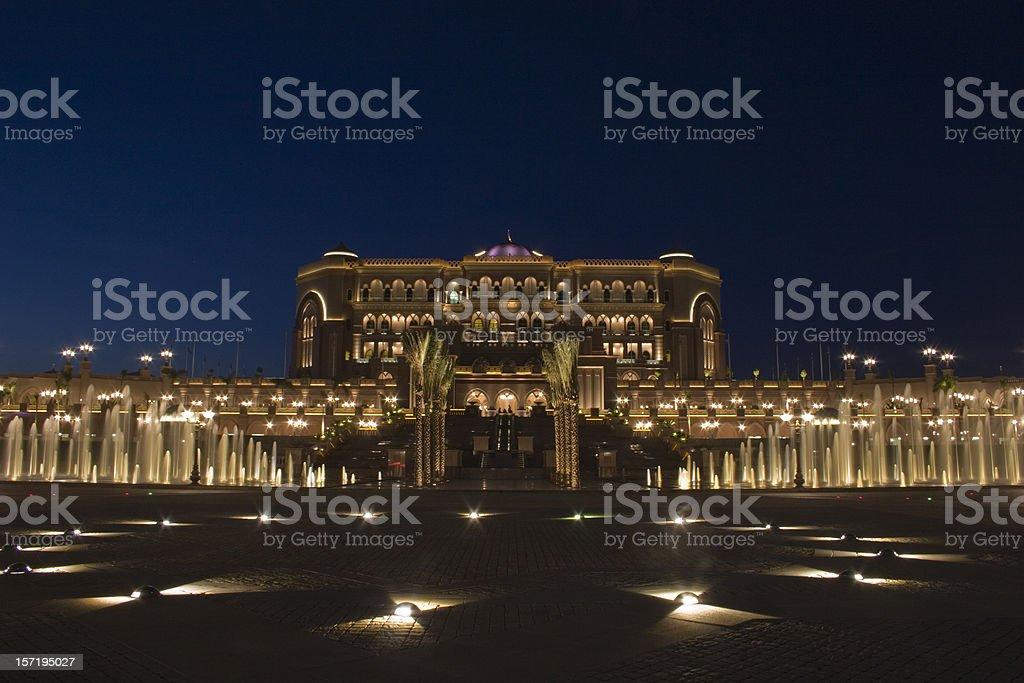 Abu Dhabi Emirates Palace royalty-free stock photo