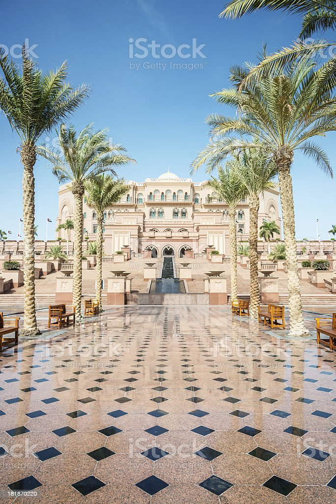 Abu Dhabi Emirates Palace stock photo