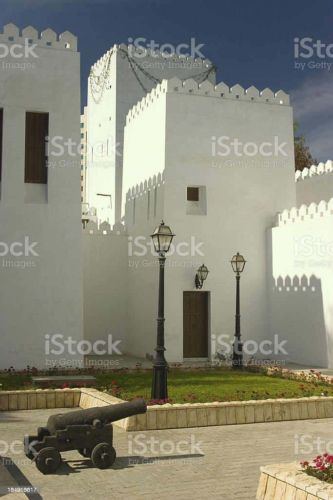 Abu Dhabi fortress royalty-free stock photo