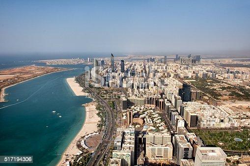517465184 istock photo Abu Dhabi from the sky 517194306