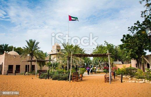 istock Abu dhabi heritage village scene at day time 955813194