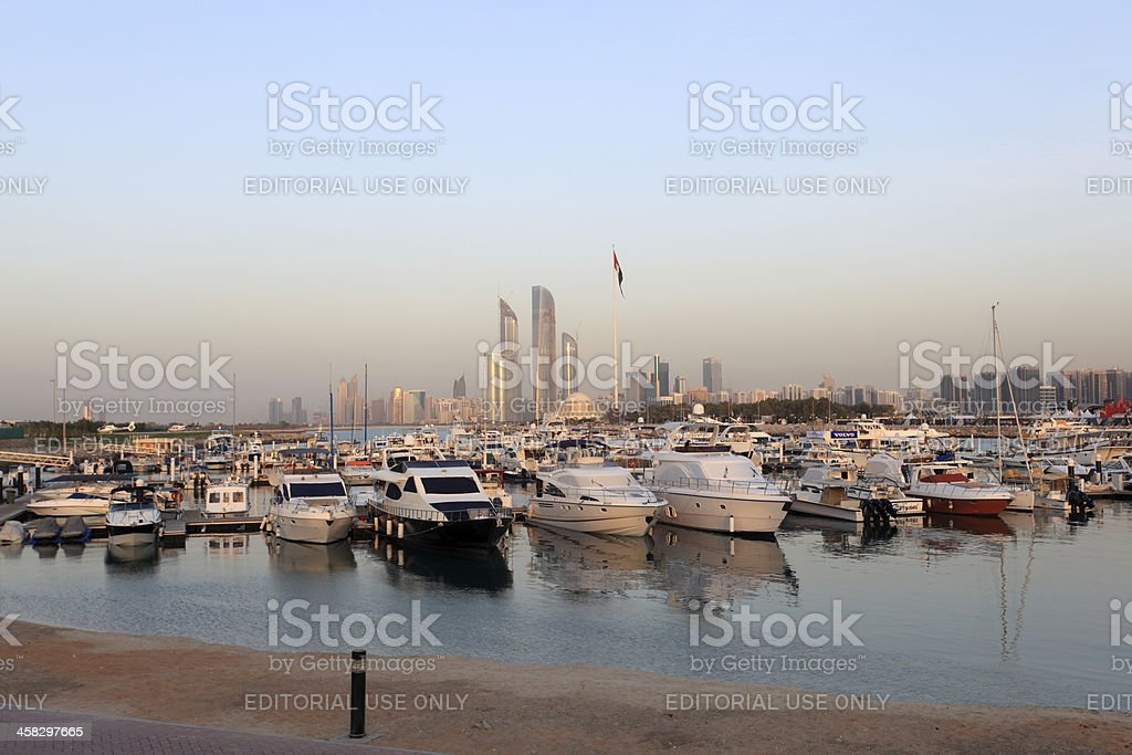 Abu Dhabi Marina royalty-free stock photo