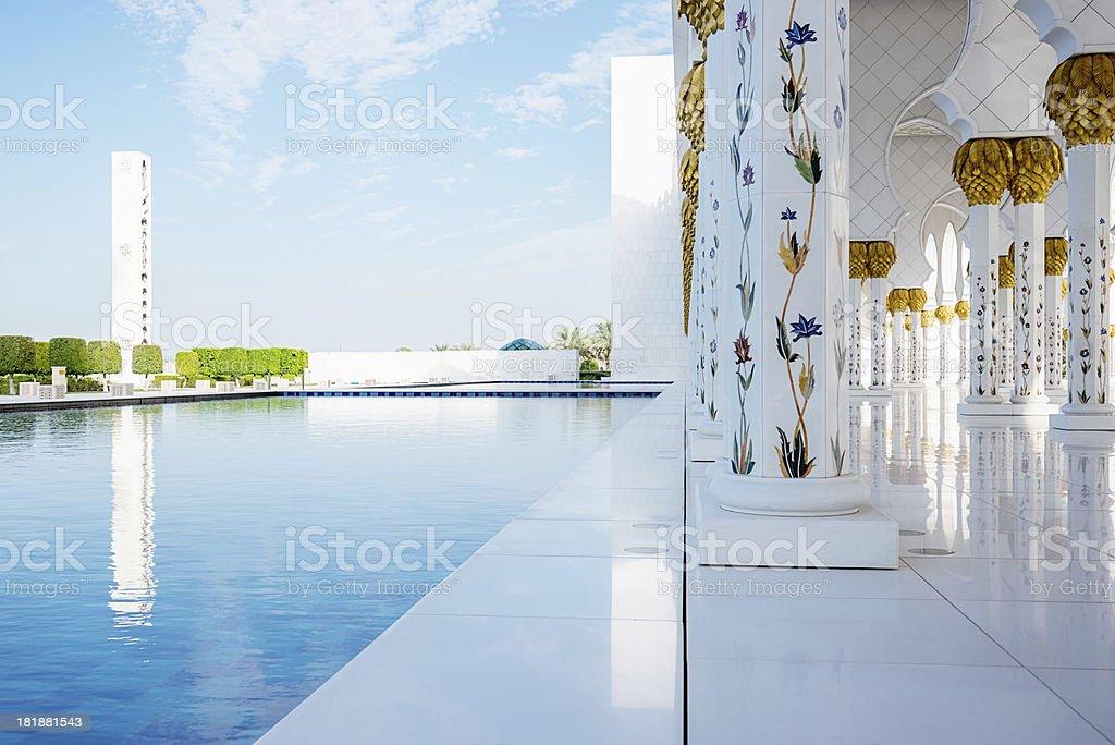 Abu Dhabi Mosque,United Arab Emirates royalty-free stock photo