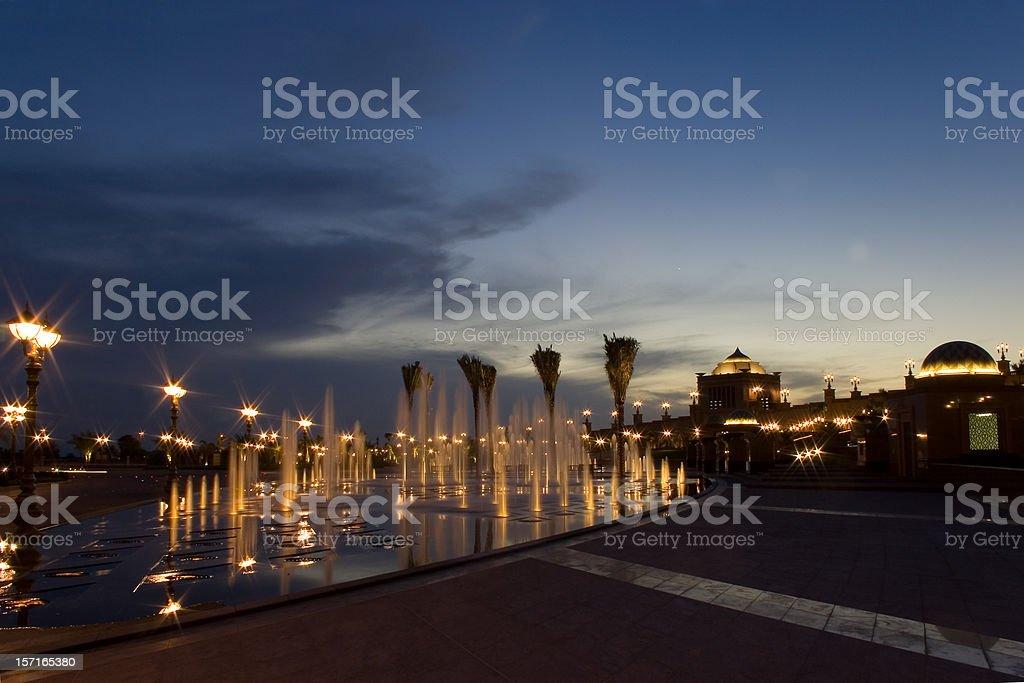 Abu Dhabi Palace sunset royalty-free stock photo