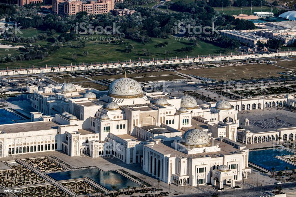 Abu Dhabi Presidential Palace stock photo