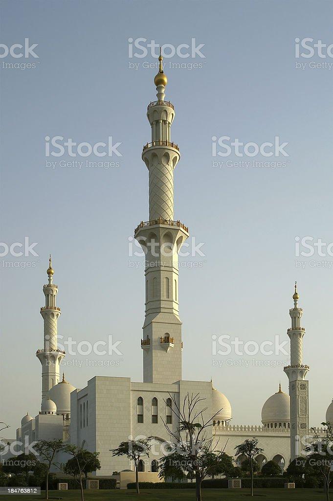 Abu Dhabi Sheikh Zayed White Mosque in UAE stock photo