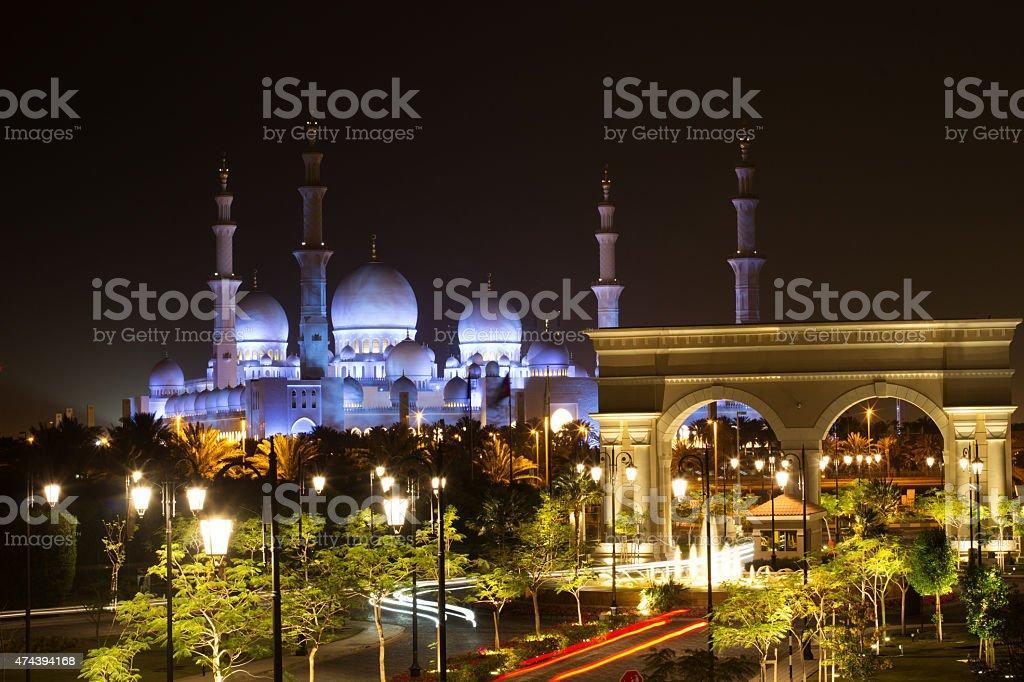 Abu Dhabi Sheikh Zayed White Mosque stock photo