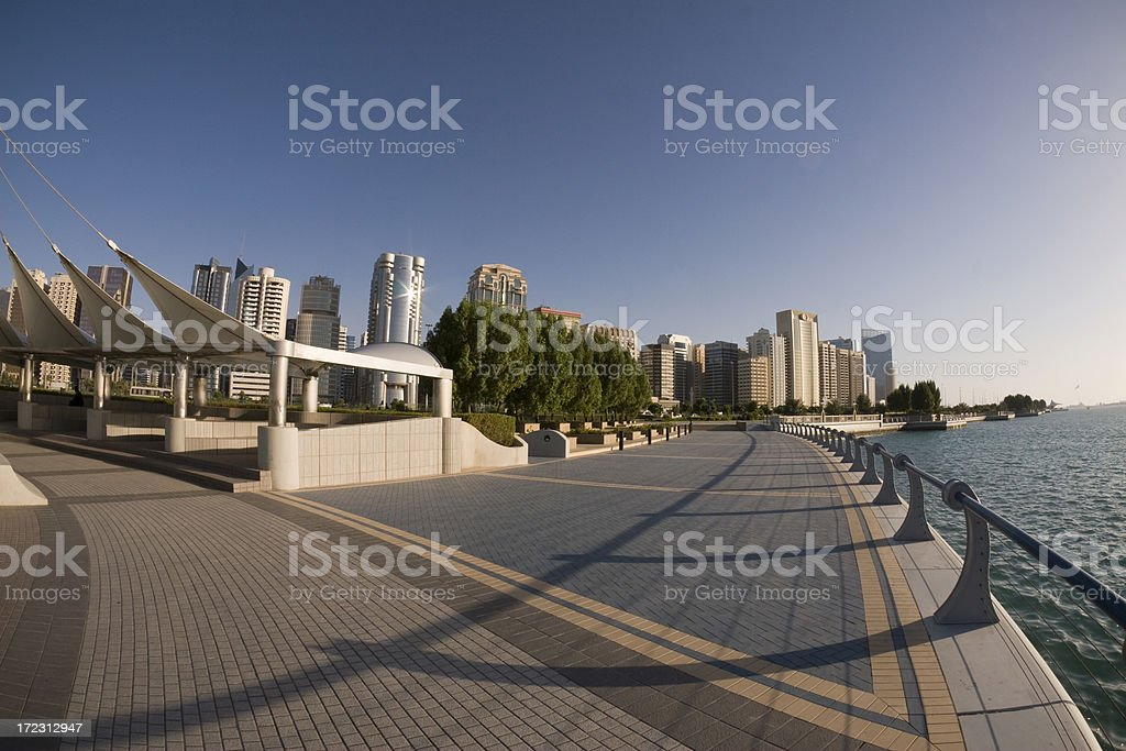 Abu Dhabi Skyline royalty-free stock photo
