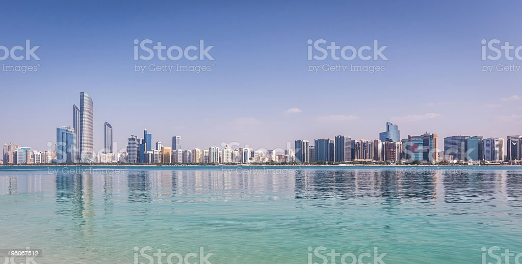 Abu Dhabi Skyline stock photo