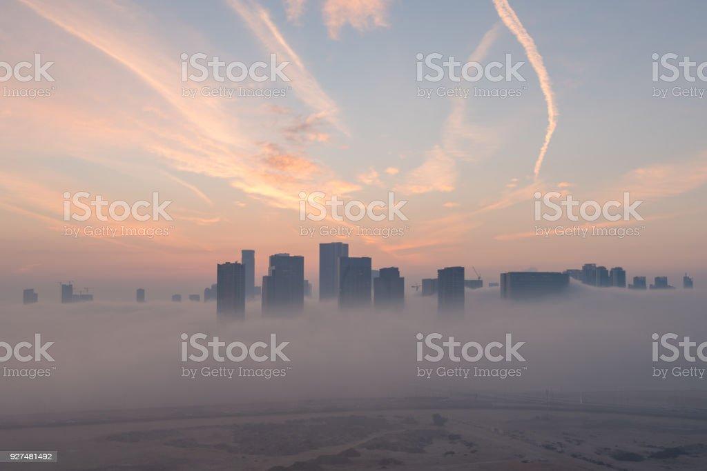Abu Dhabi sunrise stock photo