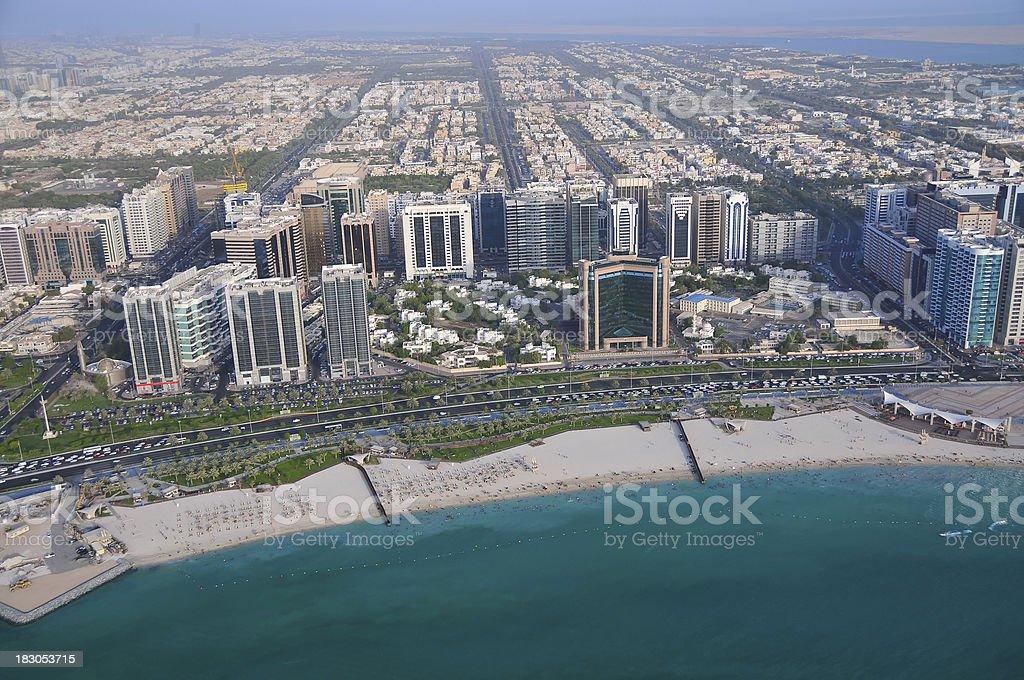 Abu Dhabi The Beach royalty-free stock photo