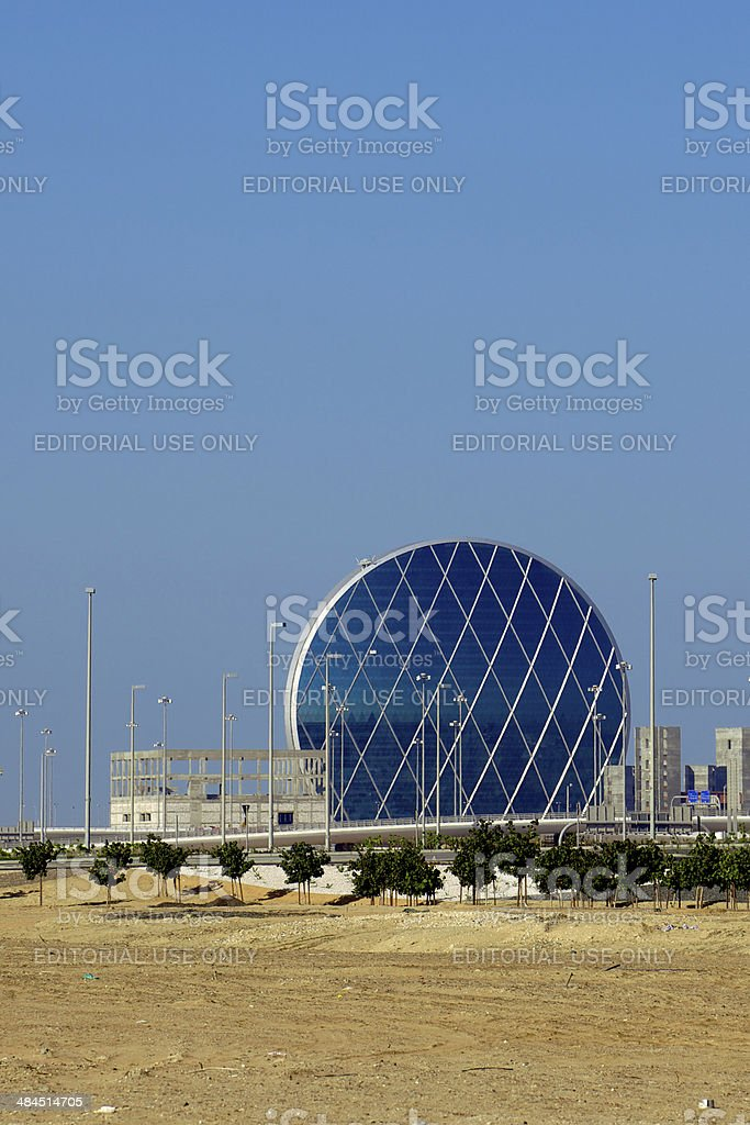Abu Dhabi Uae Modern Architecture In The Desert Stock Photo