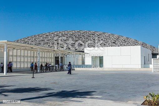 istock Abu Dhabi, United Arab Emirates, November 14, 2017: The  Louvre Abu Dhabi. 893315728