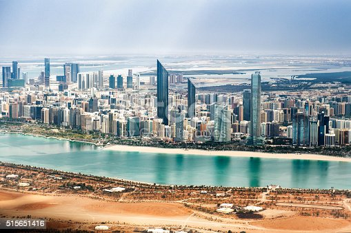 517465184 istock photo Abu Dhabi viewed from the helicopter 515651416