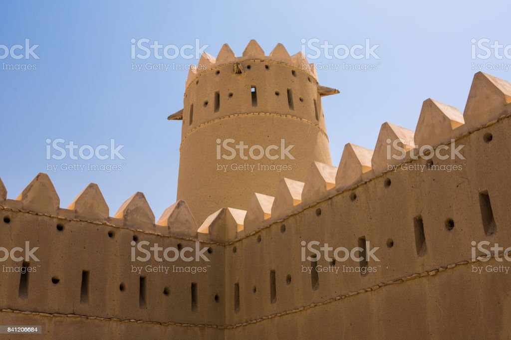 Abu Dhabi western region castle stock photo