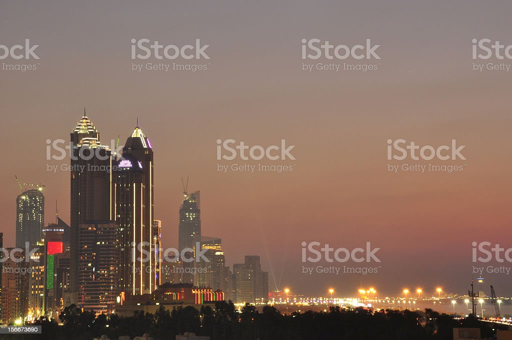 Abu Dhabi Western sky royalty-free stock photo