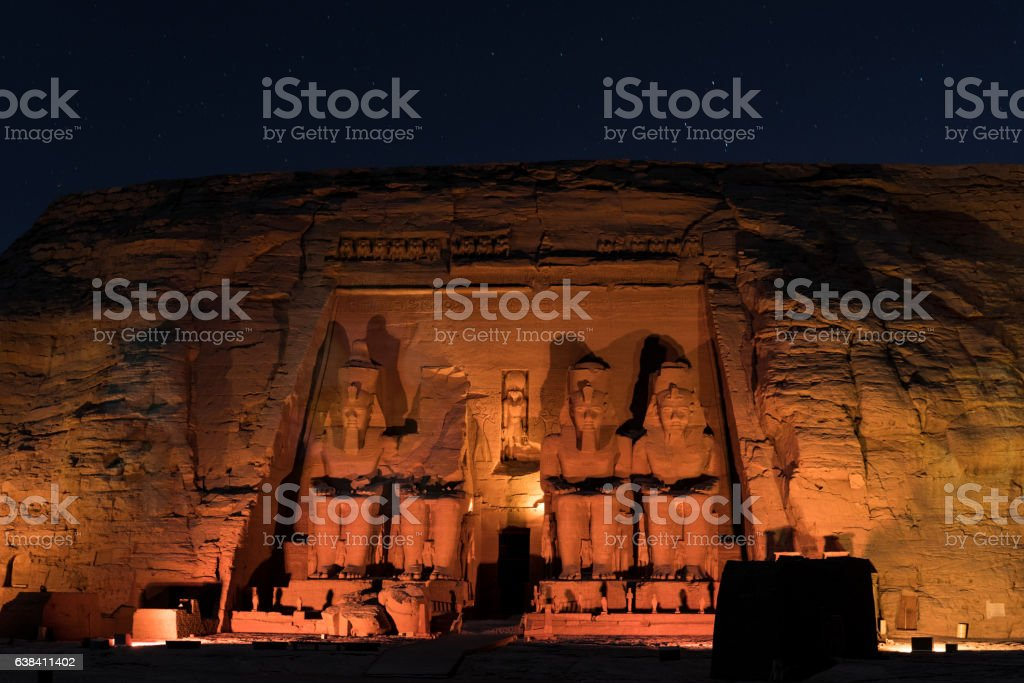 Abu Simbel And The Stars stock photo