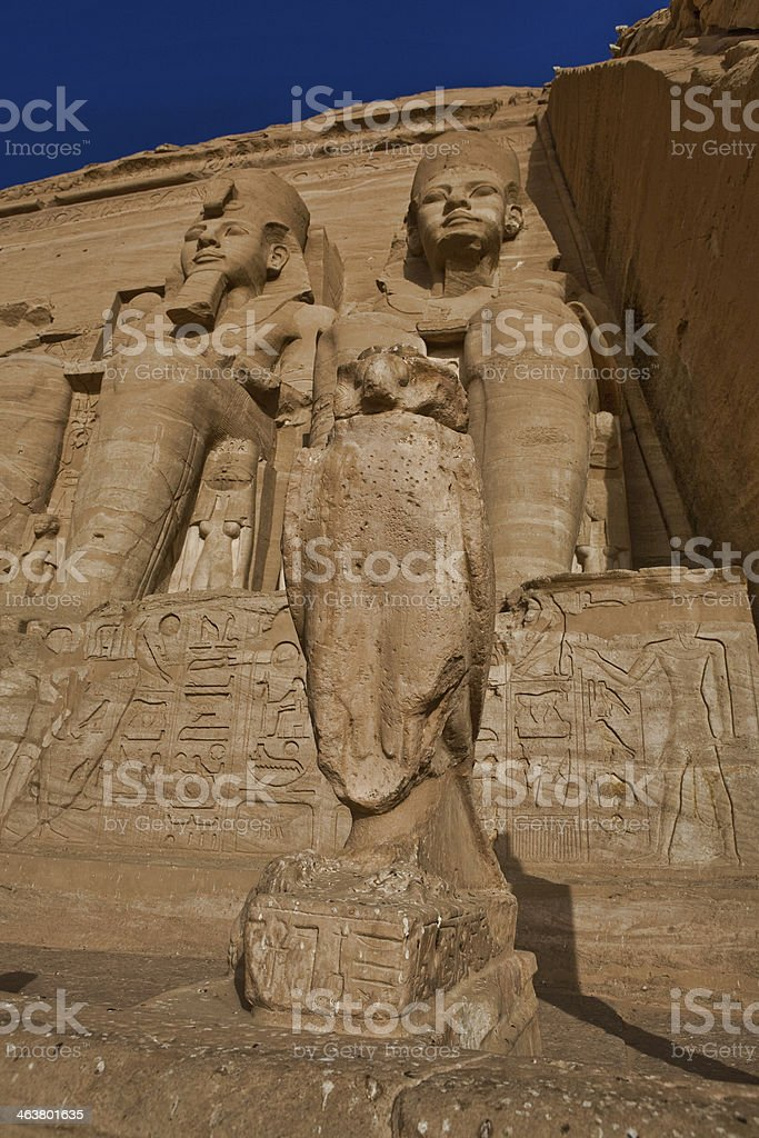 Abu Simbel falcon royalty-free stock photo