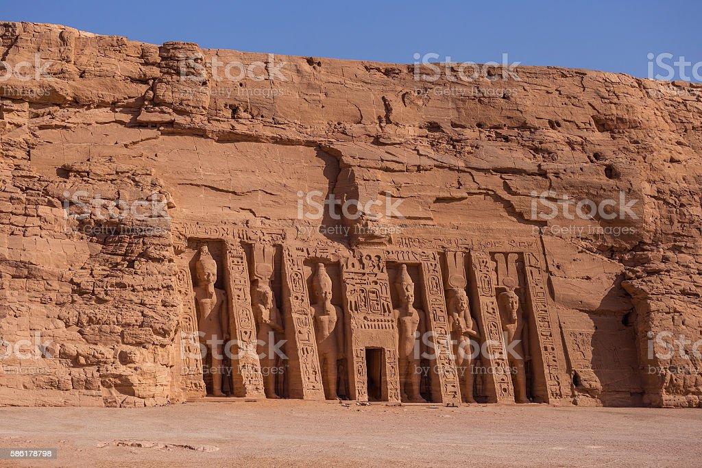 Abu Simbel Hathor stock photo