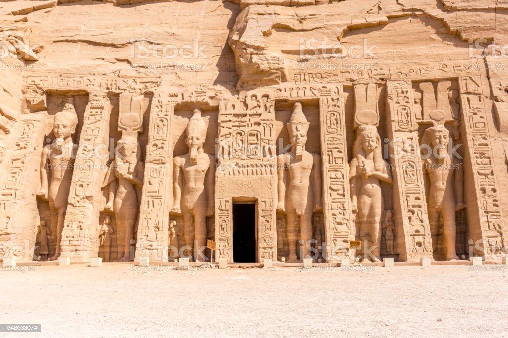 Abu Simbel kleiner Tempel stock photo
