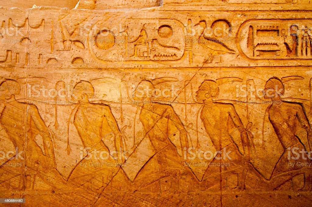 Abu Simbel on the border of Egypt and Sudan stock photo