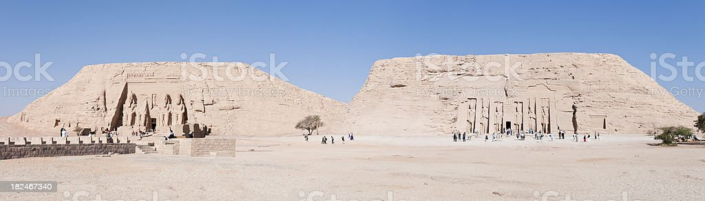Abu Simbel - Panoramic stock photo