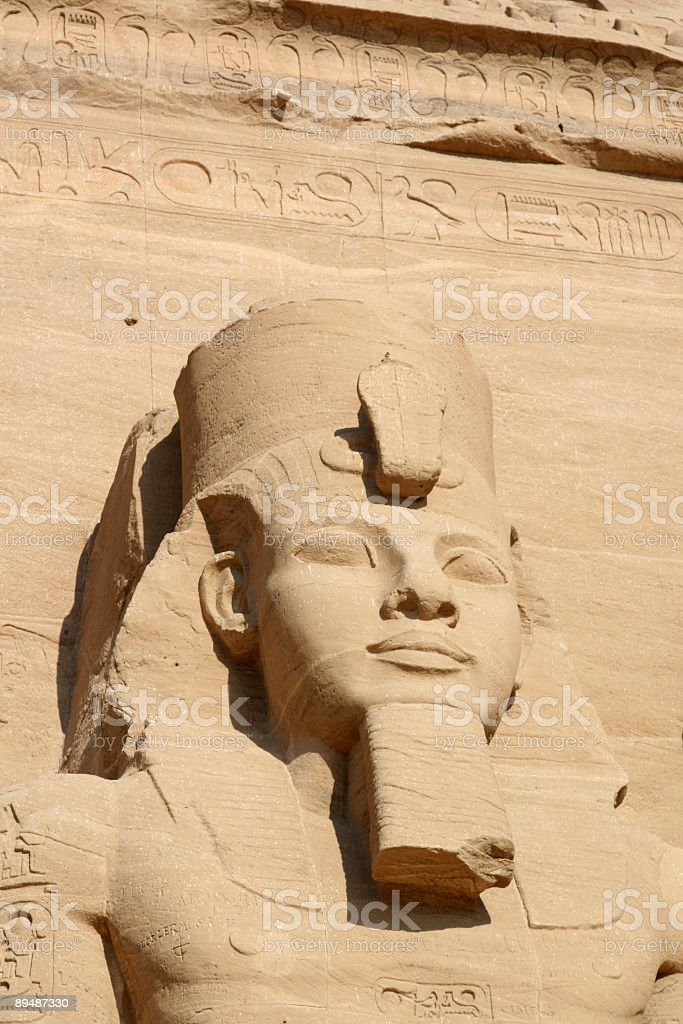 Abu Simbel; Ramses II royalty-free stock photo