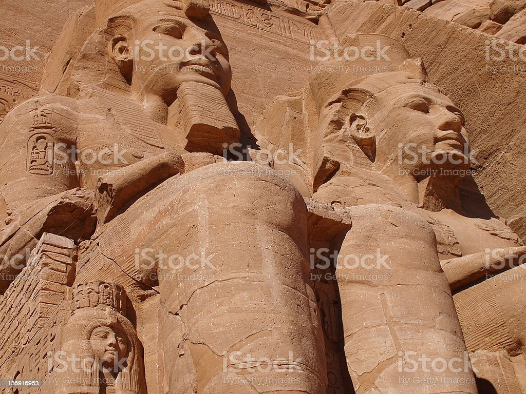 Abu Simbel statue of Ramses stock photo