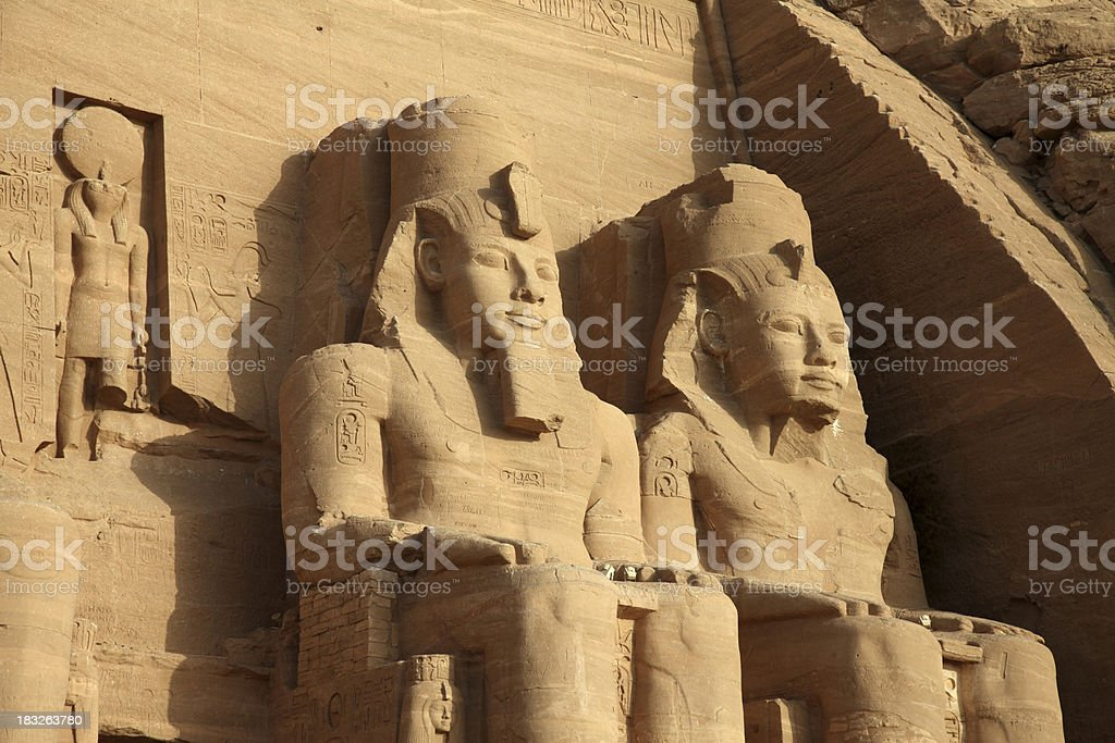 Abu Simbel Temple, Egypt royalty-free stock photo