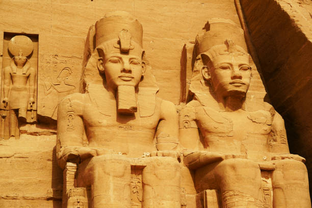 Abu Simbel Temple, Egypt stock photo