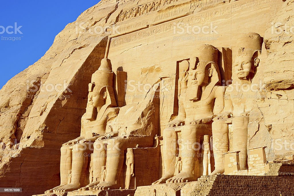 Abu Simbel temple in Egypt royalty-free stock photo