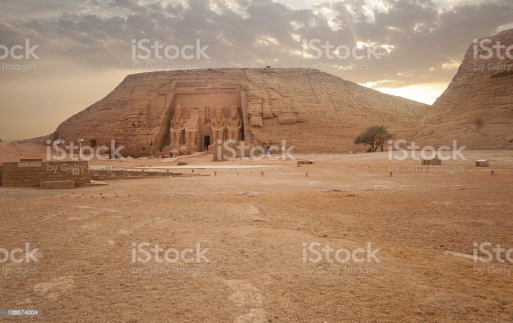 Abu Simbel temple of Ramses II, Egypt. stock photo