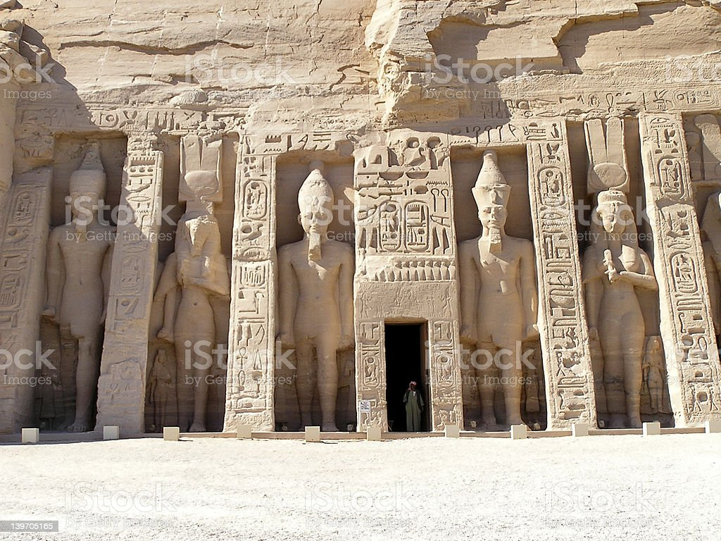 Abu Simbel temple royalty-free stock photo