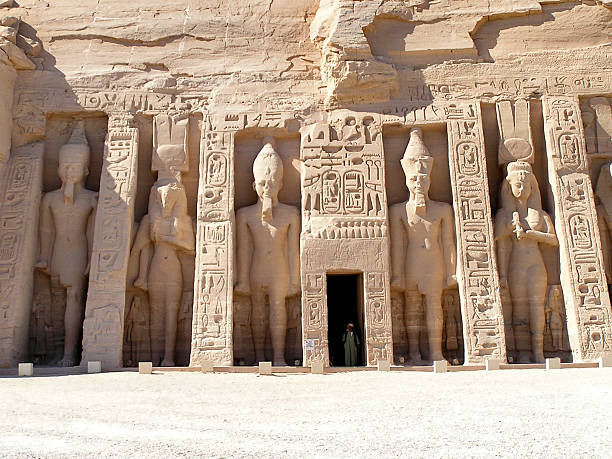 Abu Simbel temple stock photo